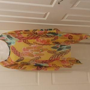 Baby Karina gorgeous flowing Kaftan Top Free Size 100%Polyester